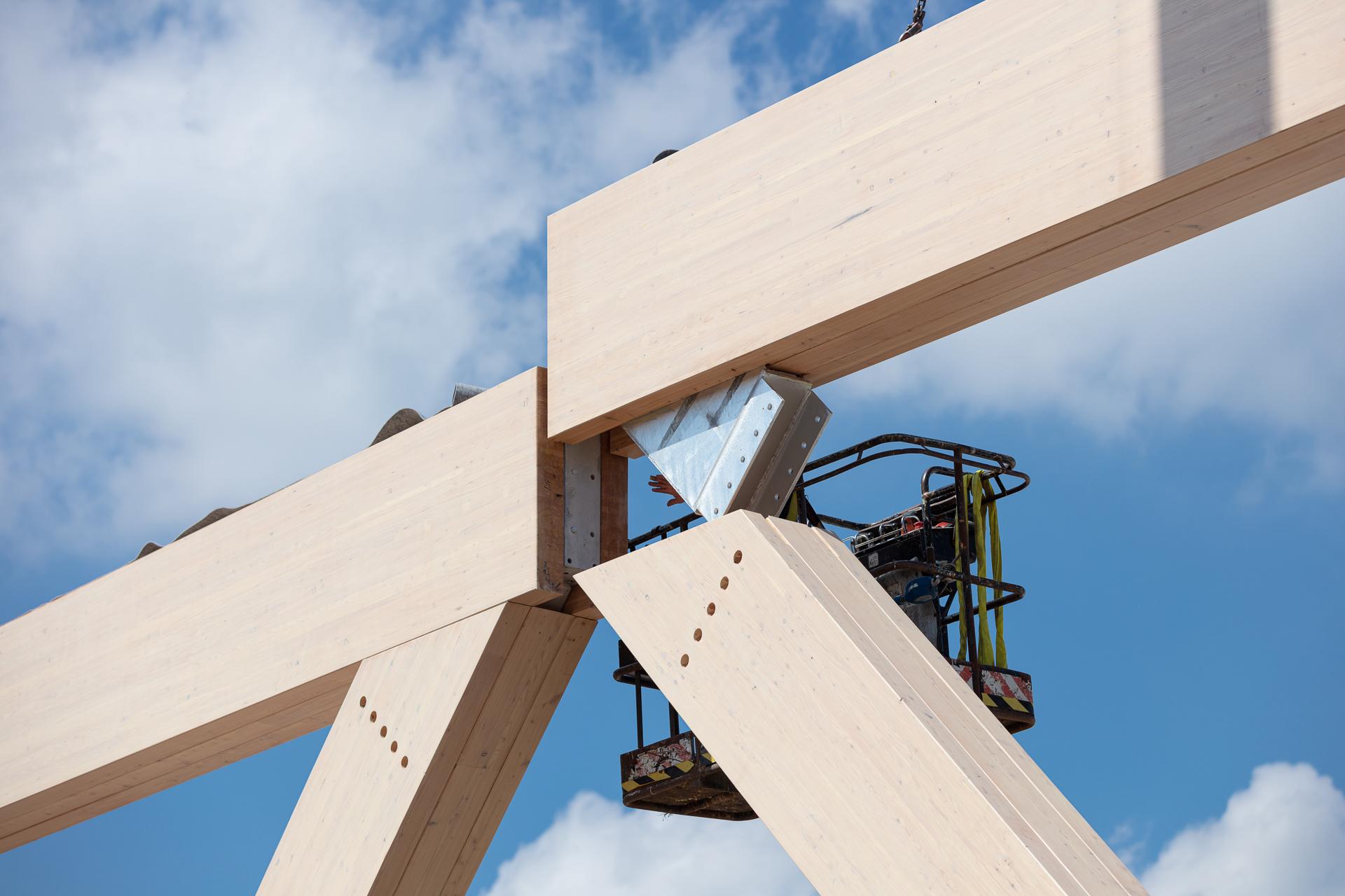 Bouwvideo Koning Willem 1 College Den Bosch Houtconstructie